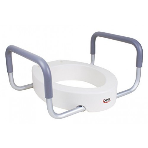 Carex B31600 Toilet Seat Elevator with Handles for Elongated Toilets