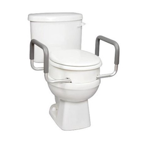 Carex Toilet Seat Elevator with Handles for Round Toilets