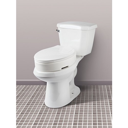 Carex Hinged Toilet Seat Riser Standard Elongated For Sale