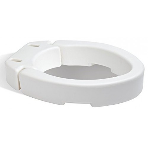 Carex Hinged Toilet Seat Riser Standard Elongated