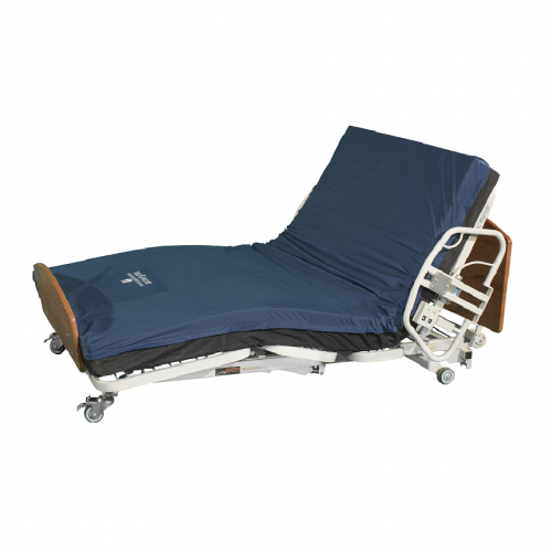 Comfort Wide EX5000 Expandable Width Long Term Care Low Bed with Mattress and Headrest Up