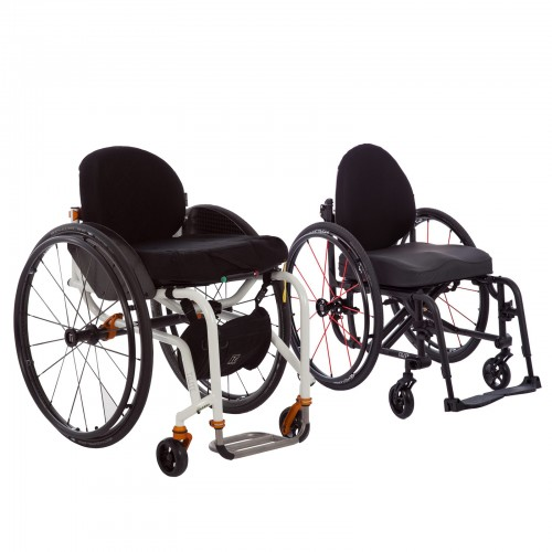 Two Deluxe Folding & Rigid Ultra Light Wheelchairs for Rental