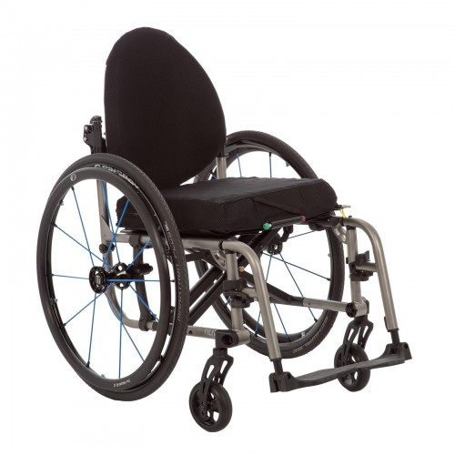 Front of Black Deluxe Folding & Rigid Ultra Light Wheelchair for Rental