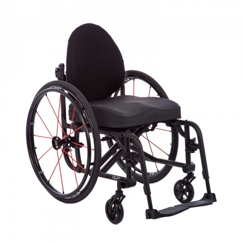 Front view of Deluxe Folding & Rigid Ultra Light Wheelchair for Rental