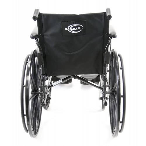 Back view of Karman LT-700T Lightweight Wheelchair