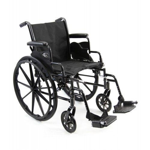 Karman LT-700T Lightweight Wheelchair W/ Desk Length Detachable Armrests