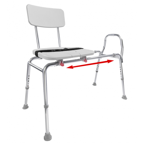 Eagle Health Sliding Transfer Bench with Cut-Out (Regular)