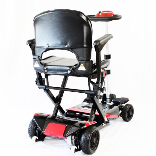 Back view of Enhance Mobility Solax Transformer Automatic Folding Scooter