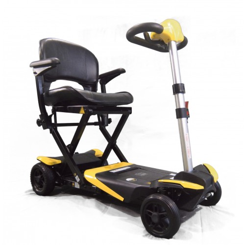 Yellow Enhance Mobility Solax Transformer Automatic Folding Scooter