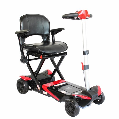 Red Enhance Mobility Solax Transformer Automatic Folding Scooter