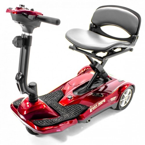 Red EV Rider Transport Automatic Folding Scooter