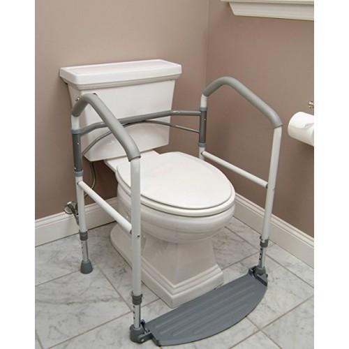 Fold Easy Portable Toilet Frame on Toilet