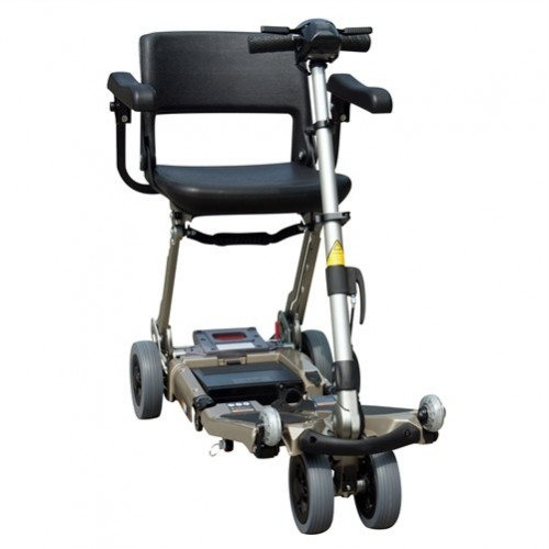 Grey FreeRider Luggie Elite Folding Mobility Scooter