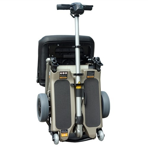 Folded Grey FreeRider Luggie Elite Folding Mobility Scooter
