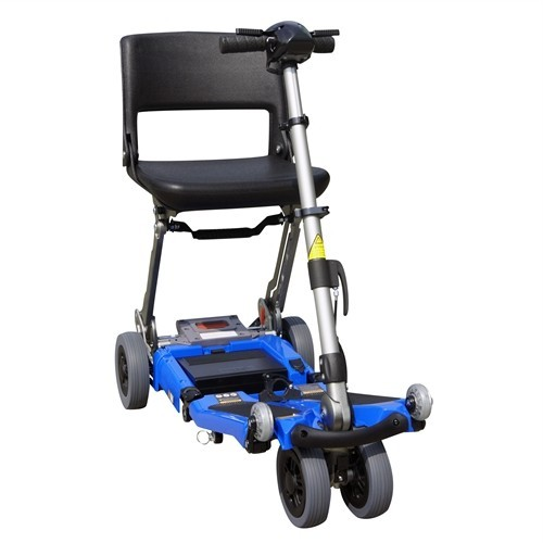 Blue FreeRider Luggie Elite Folding Mobility Scooter