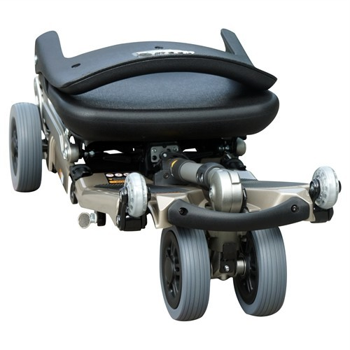 Folded Grey FreeRider Luggie Standard Folding Mobility Scooter