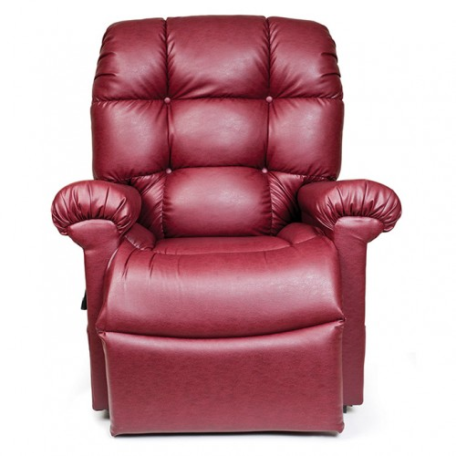 Front view of Red Golden Tech Cloud Infinite Position Lift Chair
