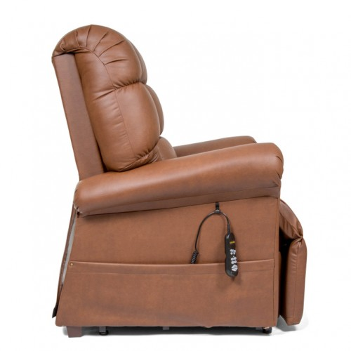 Side view of Brown Golden Tech Cloud Infinite Position Lift Chair