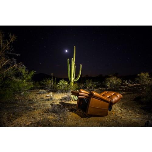 Golden Tech Cloud Lift Chair with Twilight in the Desert