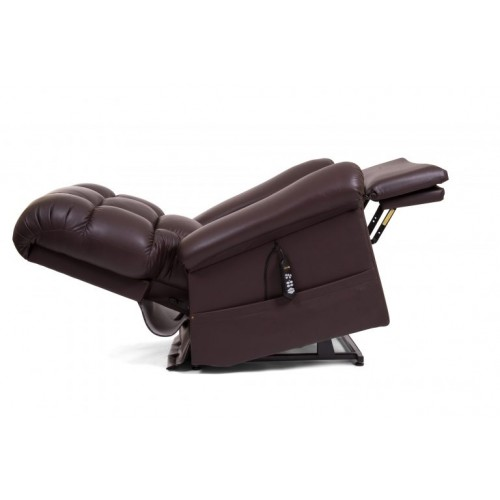 Brown Golden Tech Cloud Lift Chair with Twilight with Extended Footrest and Headrest