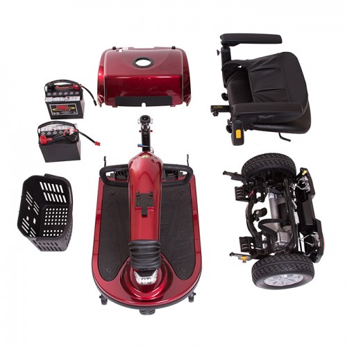 Disassembled Parts of Golden Tech Companion 3 Wheel Mobility Scooter