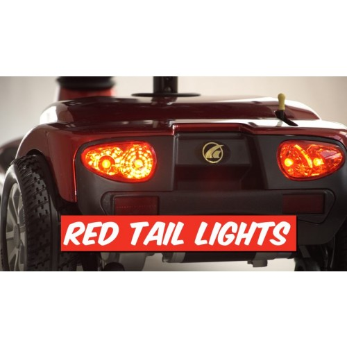 Red Tail Lights of Golden Tech Companion 3 Wheel Mobility Scooter