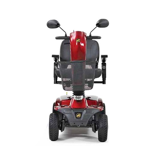 Front view of Red Golden Tech Companion 4 Wheel Mobility Scooter