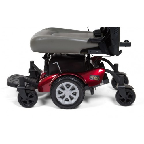Side view of wheels on Golden Tech Compass HD GP620 Power Wheelchair