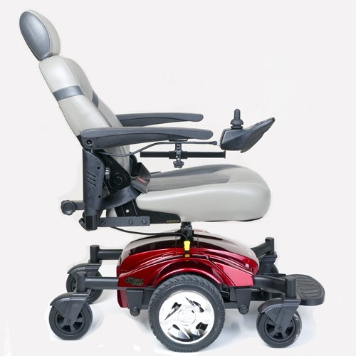 Side view of Golden Tech Compass Sport GP605M Power Wheelchair with Leaning Back