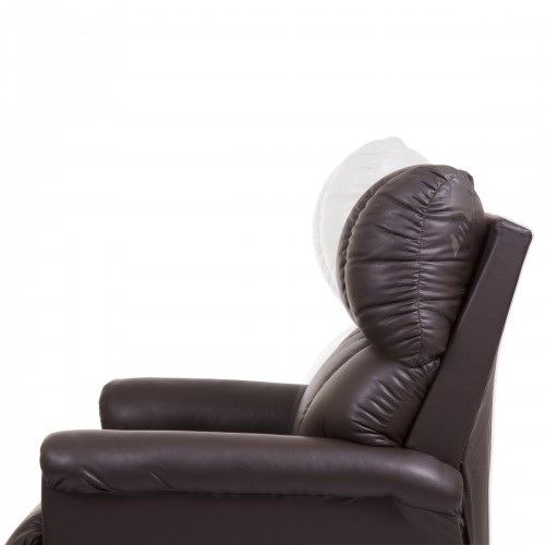 Side view of Brown Golden Tech Imperial 3-Position Lift Chair