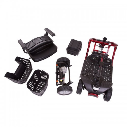 Disassembled Parts of Golden Tech Literider 4-Wheel Mobility Scooter