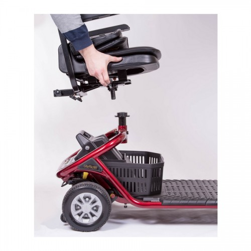 Seat being detached from Golden Tech Literider 4-Wheel Mobility Scooter