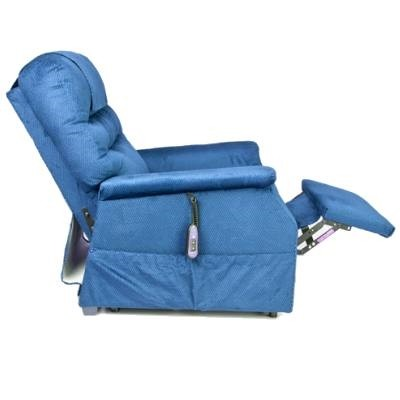 Side view of Blue Golden Tech Monarch 3-Position Lift Chair with Elevated Footrest