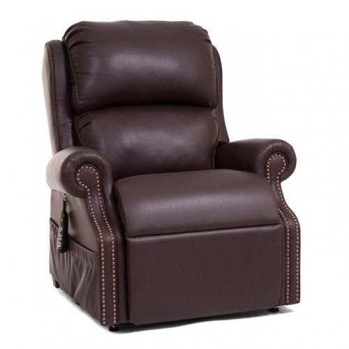 Dark Brown Golden Tech Pub Chair Infinite Position Lift Chair