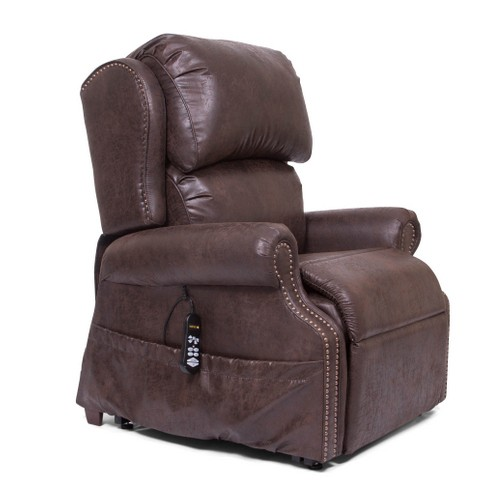 Side view of Brown Golden Tech Pub Chair Infinite Position Lift Chair