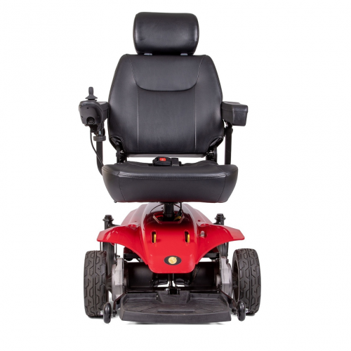Front view of Red Golden Technologies Atlante Sport Power Wheelchair