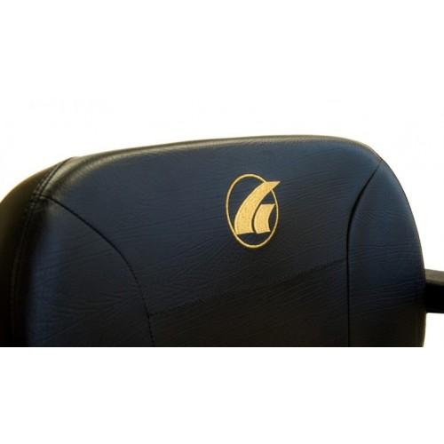 Seat of Golden Technologies LiteRider Envy PTC Travel Power Wheelchair