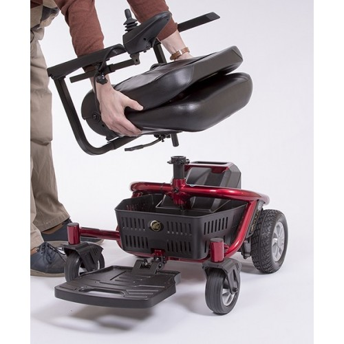 Disassembling Seat on Red Golden Technologies LiteRider Envy PTC Travel Power Wheelchair