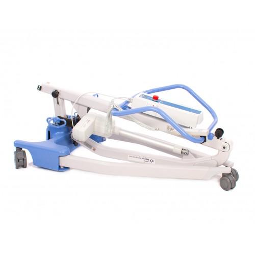 Folded Blue Hoyer Advance-E Electric Patient Lift
