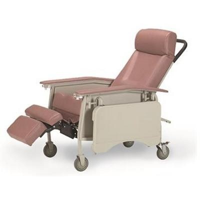 Pink Invacare 3-Position Geriatric Recliner Chair with Food Extension