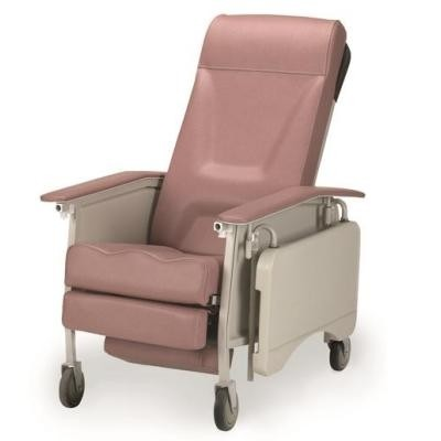 Pink Invacare 3-Position Geriatric Recliner Chair