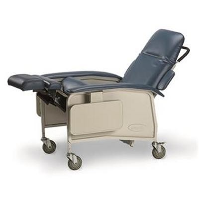 Blue Reclined Invacare 3-Position Geriatric Recliner Chair