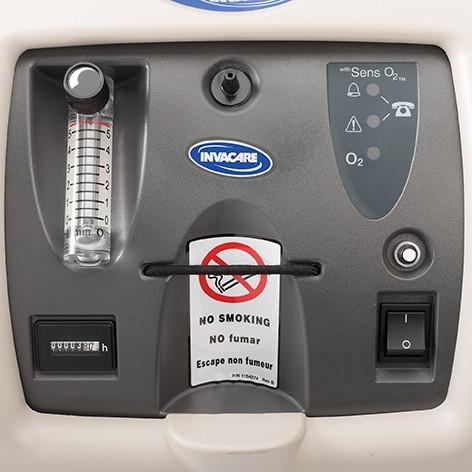 Controls of Invacare Perfecto2 V Oxygen Concentrator