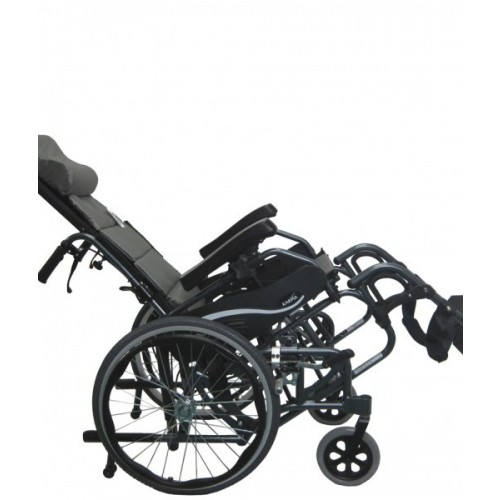 Side view of Reclined Karman VIP-515 Tilt In Space Wheelchair