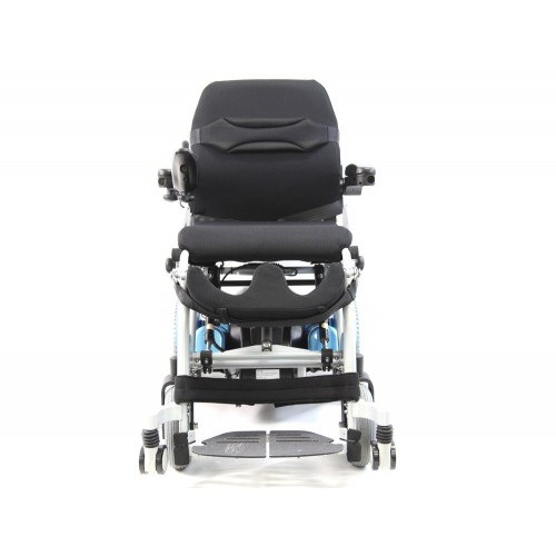 Front view of Karman XO-202 Ergonomic Power Stand-Up Wheelchair
