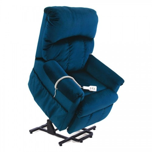 Side view of Blue Pride Mobility Wall Hugger 2-Position Lift Chair