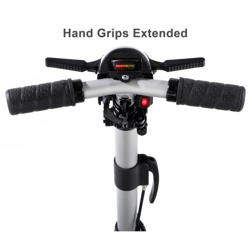 Hand Grips Extended on Luggie Elite Plus 4 Scooter