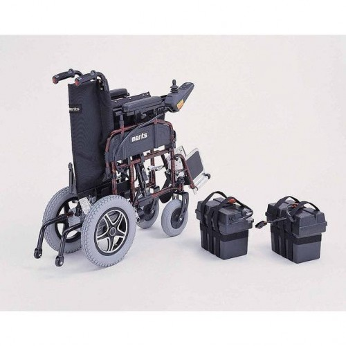 Folded Merits Folding Power Wheelchair