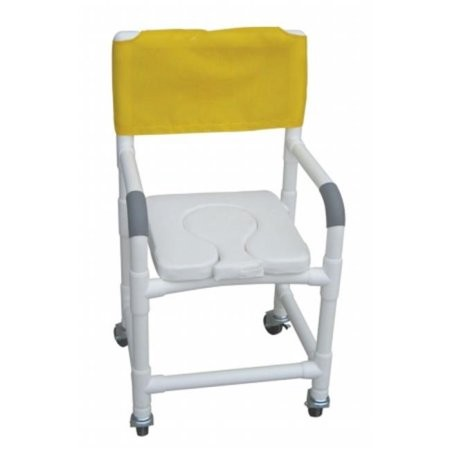 Yellow MJM International Shower Chair and Commode