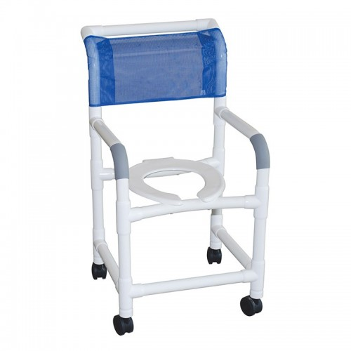 Blue MJM International Shower Chair and Commode